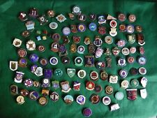 More details for bowls badges enamel county club collection of 110, 50 years old