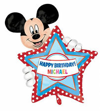 """Mickey Mouse Birthday Party Decoration 30"""" Supershape Personalised Foil Balloon"""