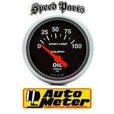 "AUTOMETER ELECTRIC OIL PRESSURE GAUGE 2-1/16"" SPORT-COMP SERIES 0-100PSI AU3327"