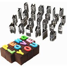 26pcs Letters Alphabet Cake Mould Fondant Cookies Biscuit Baking Cutter Tool 509