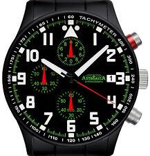 N93BS astroavia chronograph fliegeruhr military fliegerchronograph design black