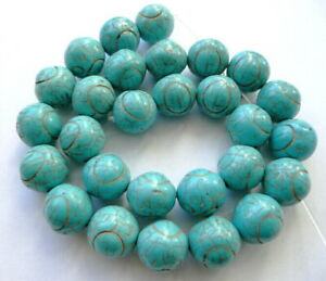 UKcheapest-14-15.5'' green Blue brown turquoise round 10 12mm gemstone beads