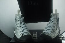 """White DIOR B23 HIGH TOP SNEAKERS """"OBLIQUE"""" Technical Fabric Size 42/ US 9"""