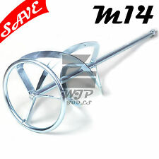 Plaster Mortar Paint Mixing Paddle Mixer Stirrer Whisk 160 x 750mm M14 G70