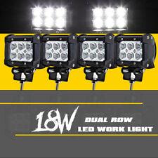 Work Cube Dual Row LED Light Bar Spot Flood Driving Fog Pod 4'' Inch 72W CREE x4