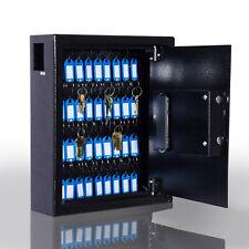 40 Steel Safe Hook Key Box w/Tag Digital Lock Storage Case Cabinet Wall Mount