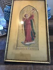 """Antique """"Gloria in Excelsis!"""" Print in Giltwood Frame w/matte mid-19th Century"""