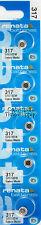 5 Pc 317 Renata Watch Batteries 317 SR516SW EXP 10/2020