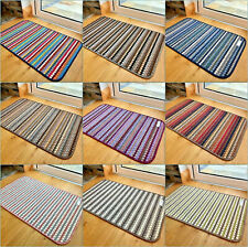 NEW MODERN COLOUR MATS LONG KITCHEN HALL RUNNERS NON-SLIP HARD WEARING RUGS UK