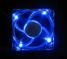 80mm 25mm Case Cabinet Fan Kit 110 115 120 VAC 24CFM Sleeve Blue LED 8025 1477*