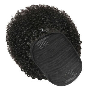 1 Pc 16in Drawstring Hair Extension Curly Ponytail Extension Fashionable Wig