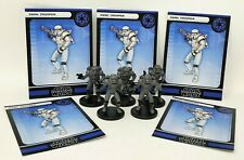 "Wizards 2007 Star Wars Miniatures Lot of 5 Dark Trooper w/ Cards 1.5"" Figure RPG"