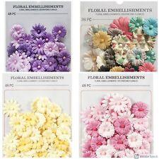 "Darice Fabric Button Daisy Embellishments 36-48 pcs, 3/4"" .75 inch Abcraft"