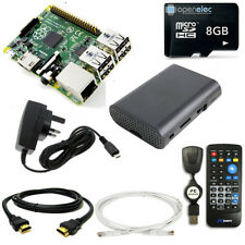 8GB Media Centre with Raspberry Pi 3 Quad Core IR Remote OpenELEC K0DI