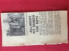 m2L ephemera 1939 article fred williams jack hitchen all night pit search dean