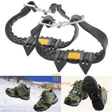 Anti-slip Snow Ice Climbing Spikes Grips Shoes Cover Cleats Crampon 4-Stud Steel