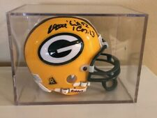 Reggie White Autographed Signed Green Bay Packers Riddel Mini Helmet Bible Verse