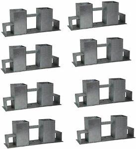 Holzstapelhilfe Stapelhilfe Holzstapelhalter Brennholz Kaminholzregal 8 Stück