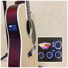 Haze 631BCEQ/N Thin Body Acoustic Guitar,Natural,EQ,Cutaway+Free gig bag,3 Picks