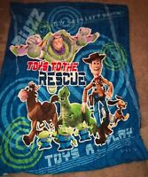 "Toy Story Pixar Disney ""Toys In Training"" Comforter Buzz Woody 85""x64"""
