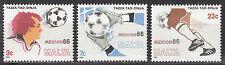 Malta Nr. 748-750** Fußball WM 1986 Mexiko