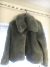 Grey Thick faux fur coat / Jacket