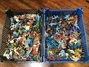 Large amount of mainly 54mm plastic figures by timpo, Britain's, crescent, etc