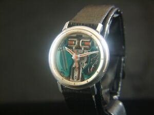 Bulova Accutron Spaceview M5 Cal.214 Turning Fork S/Steel WORKING USA Made
