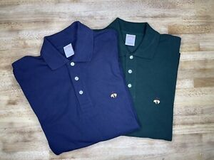 Lot of 2 NWOT Brooks Brothers 346 Small Cotton Long Sleeve Polo Men's Shirt