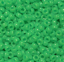 Grasshopper Green Mini Pony Beads made in USA 1000pc crafts school VBS jewelry