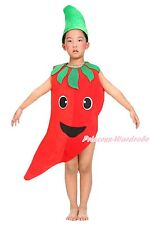 Halloween Party Chili Red Pepper Spicy Vegetables Fruit 2PC Kids Unisex Costume