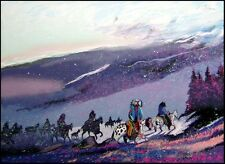 """Earl Biss """"Blizzard Along The Beartooth Range"""" Serigraph on Paper Hand Signed"""