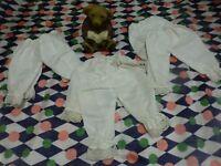 2pantys blancs pour poupée vintage  bella ,gégé ,clodrey ....