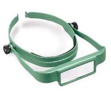 Donegan Optical OptiSight W/3 Lens Plates 3X 4X 5X Head Visor Magnifying Green