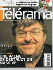 telerama  n°2837 michael moore  maitena biraben  cannes