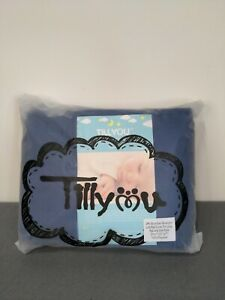 TILLYOU 3-Piece Padded Baby Crib Rail Cover Protector Set Safe Teething Navy