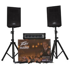 Peavey Audio Performer Pack - Portable PA System Mixer, Amp, Speakers,, Stands