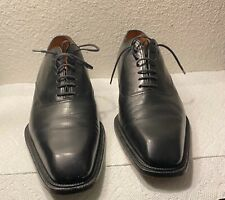 J.M WESTON BLACK LEATHER DRESS SHOES MADE IN FRANCE UK SIZE 9D