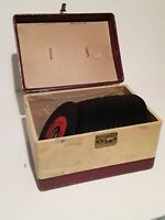 "Lot of 79 x 45rpm Vintage 7"" Vinyl Records; Jukebox/Rock/Pop/Country/Soul; w/Box"