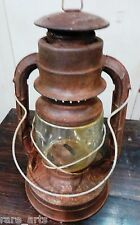 Antique DIETZ D lite No 2 NY USA tabular oil lamp Lantern original Globe LOC N08