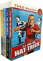 Theo Walcott Collection T.J and The Cup Run Winning Goal Hat-trick 4 Books Set