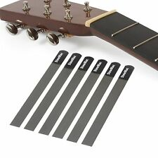 StewMac Nut Slotting Files for Acoustic Guitar-Set of 6 For Light/Medium Strings