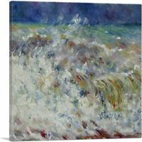 ARTCANVAS The Wave 1882 Canvas Art Print by Pierre-Auguste Renoir