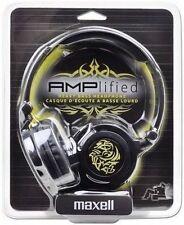 Brand New Maxell Amplified 190263 Headband Headphones Black Ipod mp3 etc
