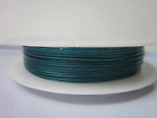 Beading Wire Blue Jewelery Making  Findings Supplies 0.38 MM