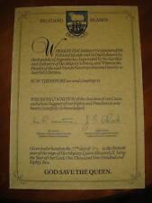 FALKLANDS WAR certificate + Surrender Document