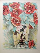 "SUSAN HALL ""DESERT ROSES"" 1980 Hand Signed Limited Edition Fine Art Lithograph"
