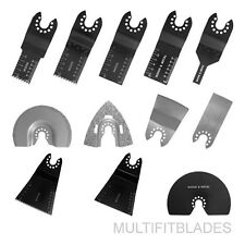 12 pc Blade Kit for Old Style PORTER CABLE, FATMAX, BOLT-ON Oscillating Tools