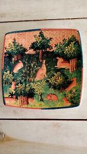 """Italian Ceramics Company ICC Caccia Renaissance Rabbits & Trees PLATE 10 3/4"""""""