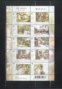 SINGAPORE 2004 ART SERIES PAINTINGS OF ONG KIM SENG SHEET 10 STAMPS SC#1081 MINT